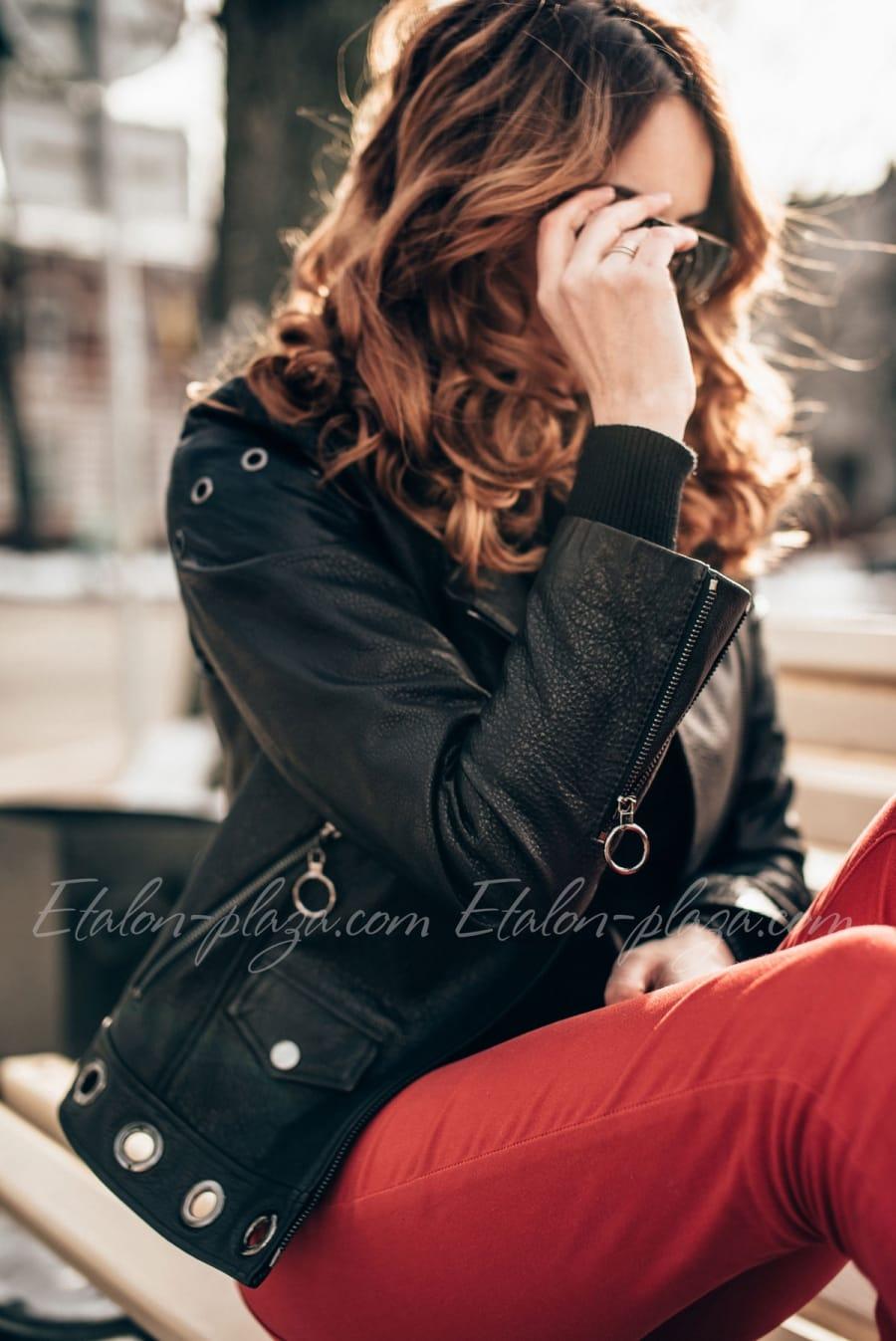 Women's leather jacket K1195