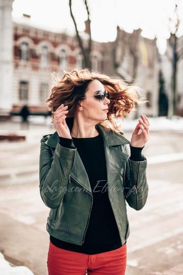 Women's Leather Jacket K1196