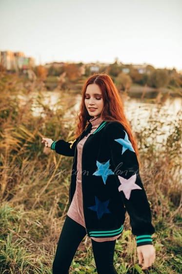 Women's fur coat jacket