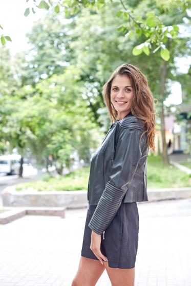Куртка женская кожаная К1335